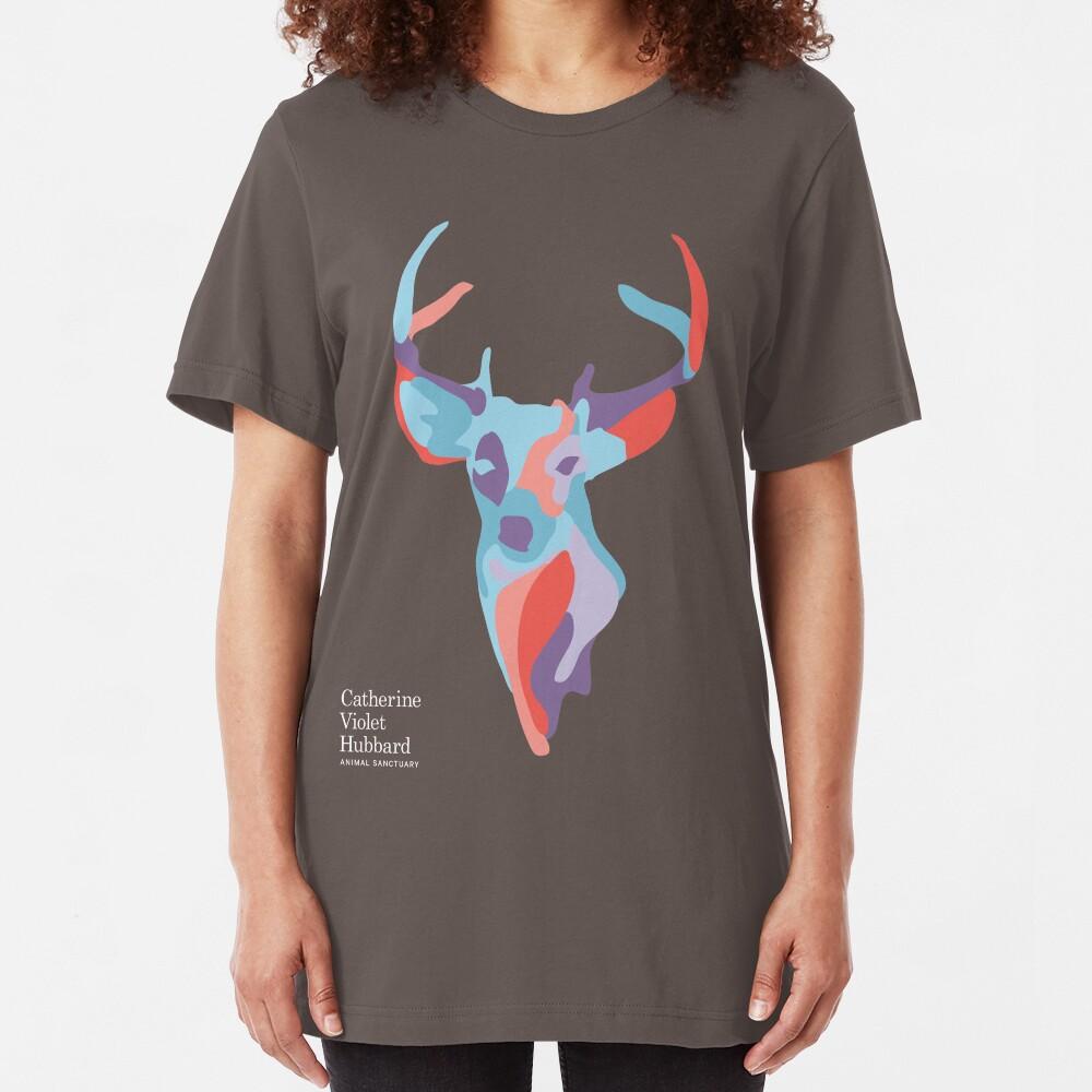 Catherine's Deer - Dark Shirts Slim Fit T-Shirt