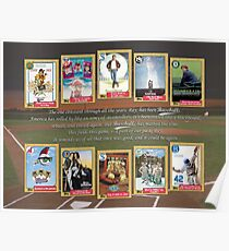 Greatest Baseball Movies with Field of Dreams Quote Poster