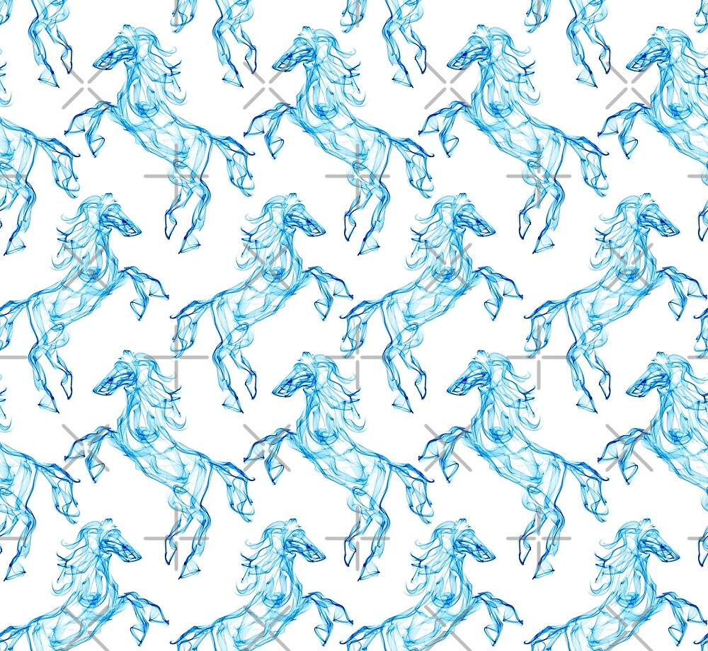 Air horse. Smoke texture pattern. Dream style by eszadesign