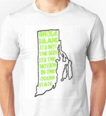 "Rhode Island NEW LOGO ""Cooler and Warmer"" Construction Edition Unisex T-Shirt"