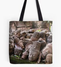 Lost Heads in the Terracotta Museum in Chiang Mai Tote Bag