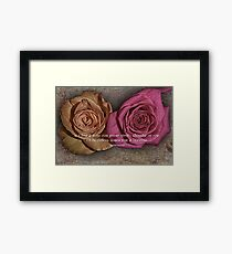 Friendship and Love Framed Print
