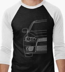 Evo 10 outline - white Men's Baseball ¾ T-Shirt