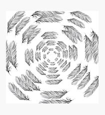 Feather tunnel Photographic Print