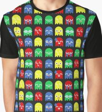 Pixel Ghost Video Game 8bit Geek Graphic T-shirt  Graphic T-Shirt