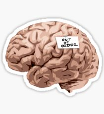 Out of Order Brain Sticker