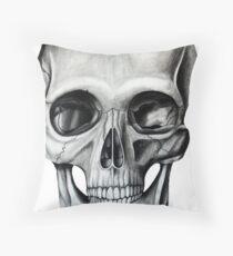 Charcoal Skull Throw Pillow