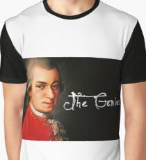 Mozart, the Genius Graphic T-Shirt