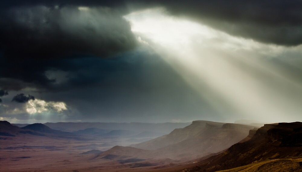 storm in mountains by Victor Bezrukov