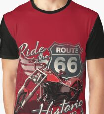 Travel - Motorcycle Ride the historic route 66 Graphic T-Shirt