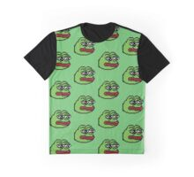 Pixelated Pepe Sad Frog Meme (Rare, Dank) Graphic T-Shirt