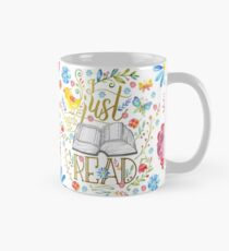 I Just Want To Read - White Floral Mug