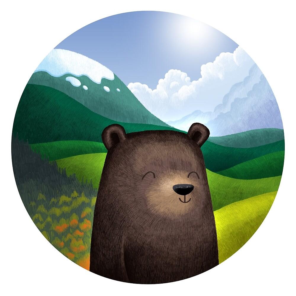 Cute bear in the wilderness von skrich