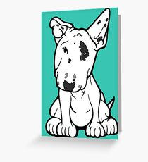English Bull Terrier Black Eye Patch  Greeting Card