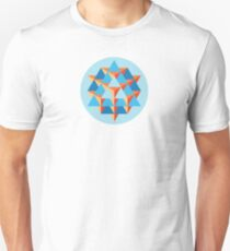 64 Tetrahedron Grid Unisex T-Shirt