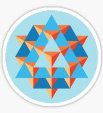 64 Tetrahedron Grid Sticker