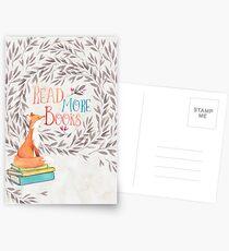 Lesen Sie mehr Bücher - Fox Postkarten