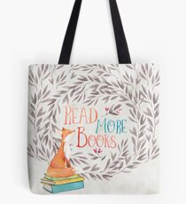 Read More Books - Fox Tote Bag