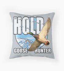 Goose Hunter Throw Pillow