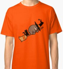 Witch Sloth on Broomstick Classic T-Shirt