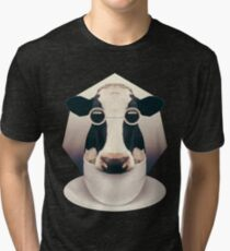 Caffeinimals: Cow Tri-blend T-Shirt