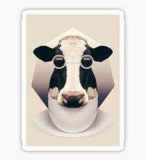 Caffeinimals: Cow Sticker