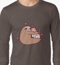 Sloth Loves Cat Long Sleeve T-Shirt