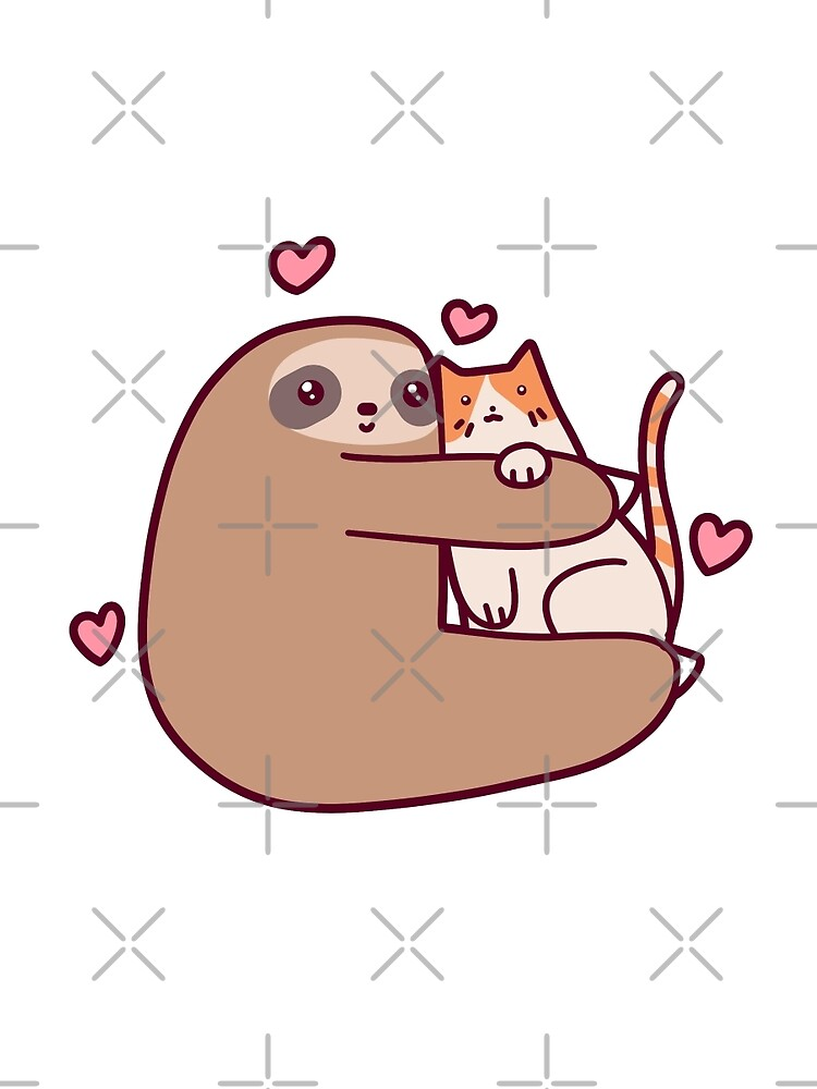 Sloth Loves Cat by SaradaBoru