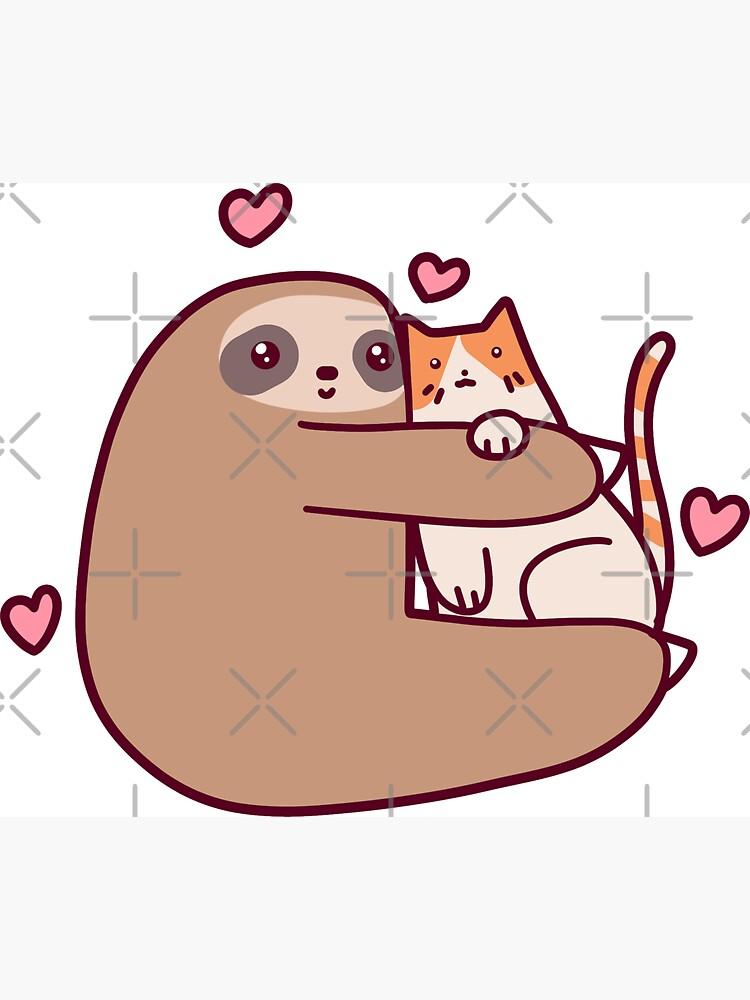 Sloth Loves Cat de SaradaBoru