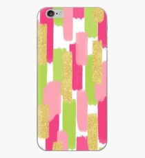 Pink and Gold Glitter   Brush Strokes iPhone Case