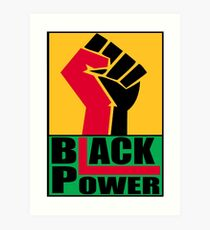 BLACK POWER SALUTE Art Print