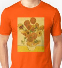'Still Life with Sunflowers' by Vincent Van Gogh (Reproduction) Unisex T-Shirt
