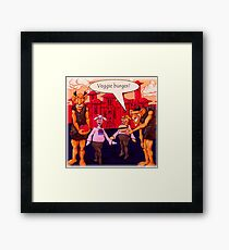 Giants Like Veggie Burgers Framed Print