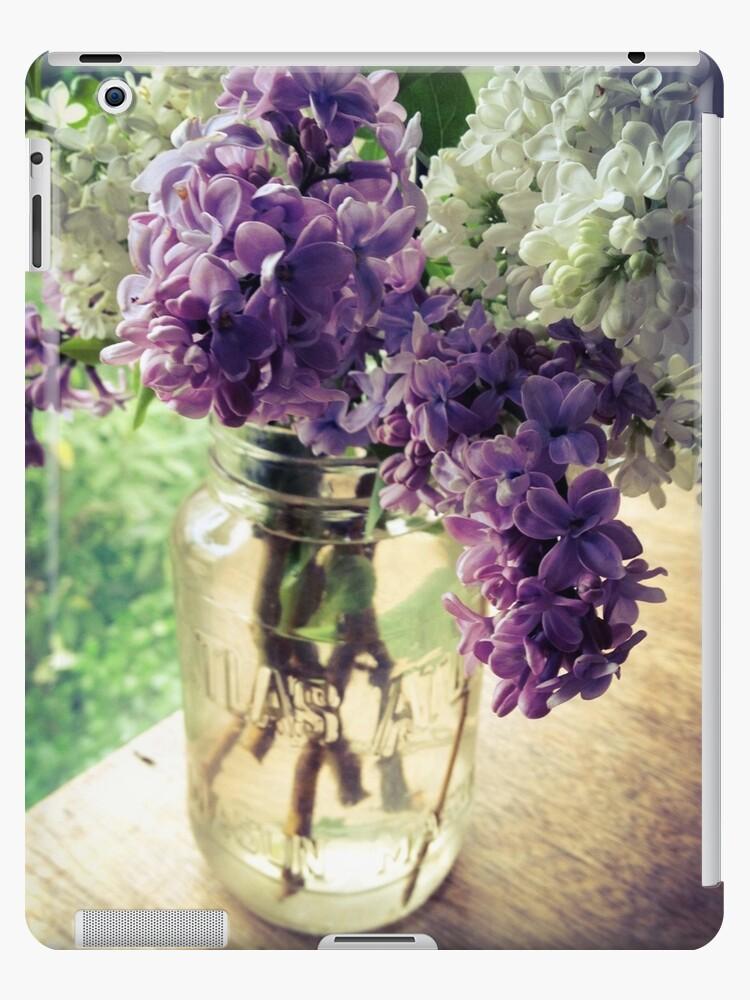 Lilac in Mason Jar by Barbara Wyeth