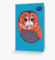Hoo Greeting Card