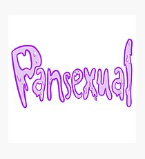 PANSEXUAL SLIME LETTERS Photographic Print