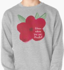 Bloom Where You Are Planted Watercolor Pullover