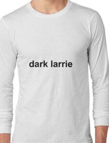 Dark Larrie WHITE/BLACK Long Sleeve T-Shirt