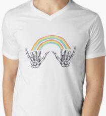 Louis Tomlinson Rainbow Hands Men's V-Neck T-Shirt