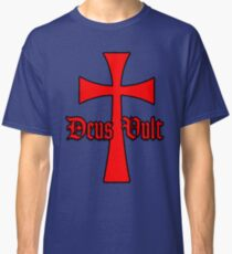 Deus Vult With Templar Cross Classic T-Shirt