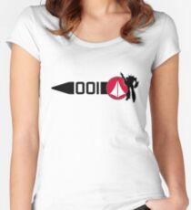 Macross Stripe Women's Fitted Scoop T-Shirt