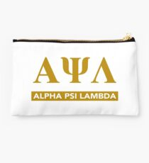 Alpha Psi Lambda Letters with Bar Underneath Studio Pouch