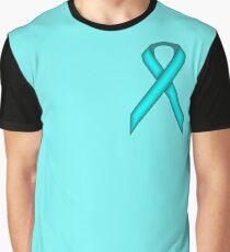 Light Blue / Teal Standard Ribbon Graphic T-Shirt