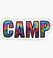 CAMP rainbow tiedye Sticker