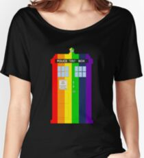Rainbow Tardis Women's Relaxed Fit T-Shirt
