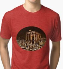 The Temple Of Baal Is Coming To New York City In April! SIGNS OF THE TIMES! Tri-blend T-Shirt