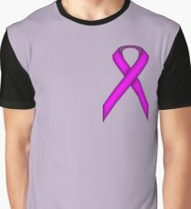Purple Standard Ribbon Graphic T-Shirt