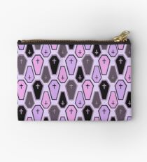 Pastel Coffin Pattern Studio Pouch