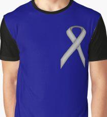 Gray / Grey Standard Ribbon Graphic T-Shirt