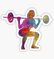 Bodybuilding Frau isoliert Sticker